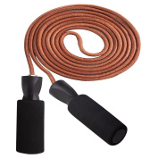 Skipping Rope - Leather Jump Rope for Workout and Speed Skip Rope, Adjustable Jump Ropes Best for Boxing, Outdoor, MMA & Fitness Exercise.