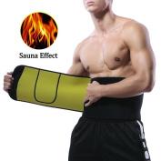 Paskyee Waist Trimmer Anti-Pilling Neoprene Sweat AB Belt for Men & Women Weight Loss includes Resistant Smartphone Pocket