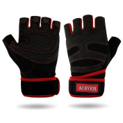 Gym Weight Lifting Gloves, Acdyion Weight Lifting Gloves, Fitness Training Breathable & Full Palm Protection, Sports Gloves for Workout, Bodybuilding, Riding for Men & Women
