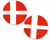 Denmark Flag Custom Car Coasters Cup Holder Matching Coaster Set
