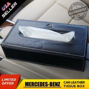 US85 Mercedes-Benz Leather Car Tissue Box Cover Napkin Paper Holder Towel Dispenser Decoration Gift