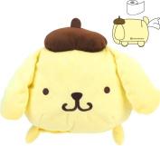 Pompompurin Roll Paper Tissue Holder Case Stuffed Plush Doll Cushion Shape Cover