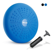 Balance Cushion,Balance Boards,Wobble Seat,34cm Air Stability Wobble Cushion,Core Balance Disc, Posture Trainer, Fitness Stability Pad with Hand Pump