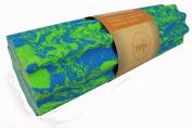 Maji Sports Taffy Tri-Ribbed Foam Roller Blue-Green, Blue-Green