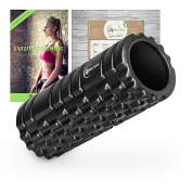 Life Balance Foam Roller for Muscle Massage - Massage Roller with Exercise Booklet - Myofascial Release - for Yoga Gym Workout and Physical Therapy