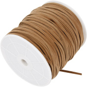Faux suede cord, 3 mm, light brown, 100 m