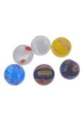 YC 50pcs Mixed Millefiori Glass Lampwork Beads 8mm