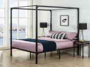 Zinus Metal Framed Canopy Four Poster Platform Bed Frame / Strong Steel Mattress Support / No Box Spring Needed, Full