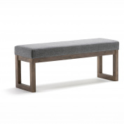 Simpli Home Milltown Large Ottoman Bench, Grey