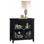 Pemberly Row Accent Curio Cabinet in Black