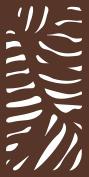 MODINEX Decorative Screen Panel - CABO Design - 0.6m x 1.2m Size - Espresso - 80% Privacy