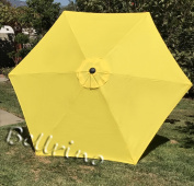 "BELLRINO DECOR Replacement YELLOW "" STRONG & THICK "" Umbrella Canopy for 2.7m 6 Ribs YELLOW"