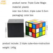 Triple Cube Street Magic Tricks Close up