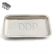 DDP VANITY organiser TRAY FOR HAND TOWELS, MAKEUP, BEAUTY PRODUCTS - BRUSHED STAINLESS STEEL