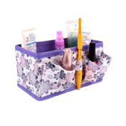 Kimanli Makeup Cosmetic Storage Box Bag Bright Organiser Foldable Stationary Container
