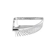 MAYKKE Dawn 23cm Wall Mount Corner Shower Basket Shelf | Wire Caddy for Shampoo, Conditioner, Soap, Razor Storage | Solid Brass Bathroom Tub Accessories Holder & Organiser | Polished Chrome, XYA1070401