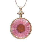 Wicemoon 3 Pcs Crystal Specimen Dried Flower Necklace Creative Personality Necklace Jewellery Gift