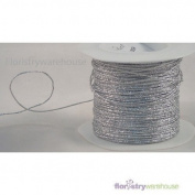 FloristryWarehouse Foil Covered Glitter Wire x 100m Silver