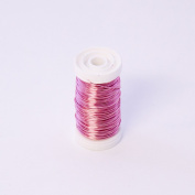 FloristryWarehouse Metallic Wire Reel 100g Rose Pink By Oasis