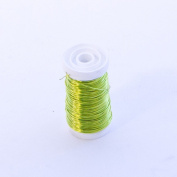 FloristryWarehouse Metallic Wire Reel 100g Lemon Yellow By Oasis