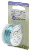 Artistic Craft Wire Silver Pltd Seafoam Green 22 Gauge 8 Yards