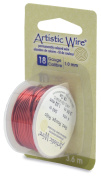 Artistic Wire 18-Gauge Red Wire, 4-Yards