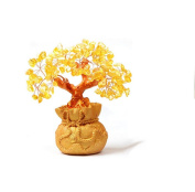 Modern golden yellow crystal rich tree home ornaments ornaments
