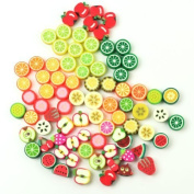yuhemii 100 Pcs Mixed Fruit Fimo Spacer Beads 10.5. X 9. 10. X 10.)