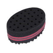 Prochive Magic Twist and Curl Sponge Brush Coil Wave for Natural Hair, Big Holes Barber Hair Brush Sponge Dreads Locking Twist Afro Curl Coil Wave Hair Care Tool