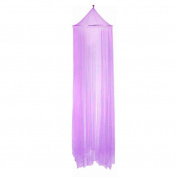 Masterein Outdoor Round Lace Insect Bed Canopy Netting Curtain Hung Dome Mosquito Nets Purple