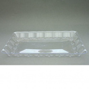 5 x Serving Trays Semi Disposable Firm Plastic Crystal Look Design - Party & Wedding 9.2 x12.6""
