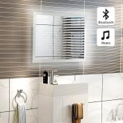 500 x 700mm Illuminated LED Light Bathroom Mirror With Bluetooth Speaker,Motion Sensor,Demister and Shaver Socket