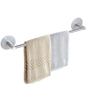 FUNRUI SUS 304 Stainless Steel Towel Rails Wall Mounted Kitchen Bathroom Towel Rack Hanger Holder 3M Self Adhesive, 40 cm