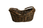 Wald Imports Brown Willow 34cm Decorative Storage Basket
