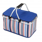 Cooler Bag Collapsible Insulated Picnic Basket with Zip Closure and Carrying Handles for Parties Camping Travel hiking Outdoor Picnic BBQ 32L Large Size