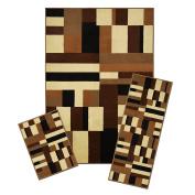 Achim Home Furnishings 3 Piece Capri Rug Set, 1.5m by 2.4m, Contempo