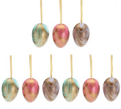 Marbled Pastel Hand Painted Coloured Easter Egg Home Decor Ornament Assortment, 9 Pack