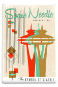 The Space Needle - Simple Block Colour - Mid Century Modern Graphic Design