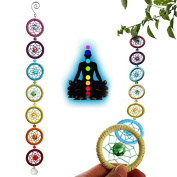 Dream Catcher Wall Hanging Decoration Chakra Muladhar Ornament for Car Party Nautical Home Decoration