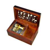 Wooden Wind Music Box Tune Is Castle in the Sky Gold Plating Movement