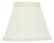 Upgradelights 30cm White Linen Washer Fitter Lamp Shade Replacement 6x 12x 8