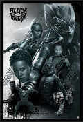 Trends International Black Panther-Group Wall Poster, 60cm x 90cm