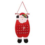 TOOGOO(R) Christmas Decoration Calendar Countdown Nonwovens Calendar Santa Claus