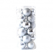 YJYdada 24pcs Shiny and Polshed Glossy Christmas Tree Ball Ornaments Xmas Decorations 6.1cm