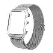 Komise Perfect Lovely Stainless Steel Magnetic Replacement Wrist Band With Case For Apple Watch 3/2/1 42mm
