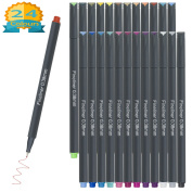 Fineliner Pens Coloured, Aoyooh 24 Colours 0.38mm Fine Tip Writing Drawing Markers Pens Fine Line Point Pen Set for Bullet Journal Planner Note Calendar Colouring Art Projects