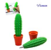 Wicemoon 1x Creative Cactus Shape Pen Office Study Ballpoint Pen Stationery Supplies
