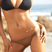 NACOLA Women Alloy Pearl Body Belly Chain Hip Waist Link Chain Beuty Bikini Chain