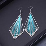 NACOLA Fashion Vintage Bohemian Silk Drop Dangle Earrings Jewellery For Women Girls Gift-Rhombus