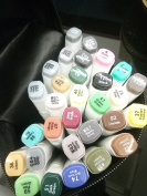30 Colour SET TOUCH New 6 Alcohol Graphic Art Twin Tip Pen Marker Mango Animation Design, 30 -pack